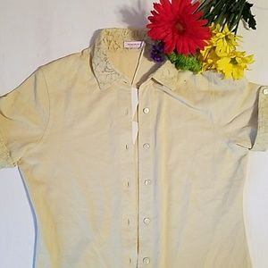 Tops - Rossopuro  NWT pale yellow Small
